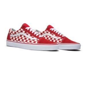 Vans red checkered Old Skool.
